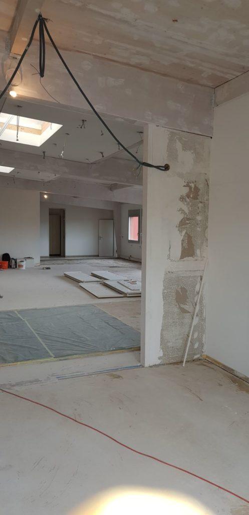 rénovation exposition travaux